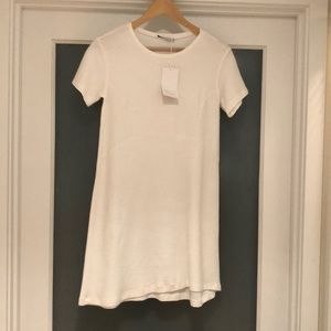 Zara Trafaluc Textred Fitted Dress Cream - size M